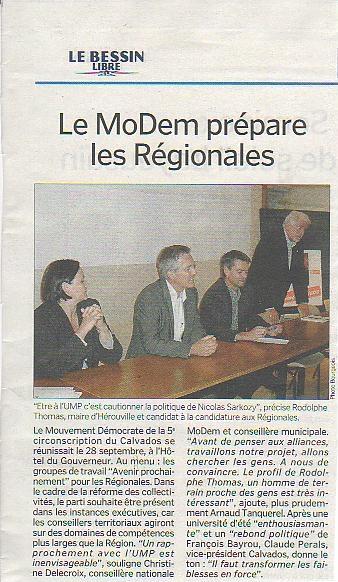 Le Modem prépare les Régionales Le Bessin Libre Bayeux Hopital du Gouverneur