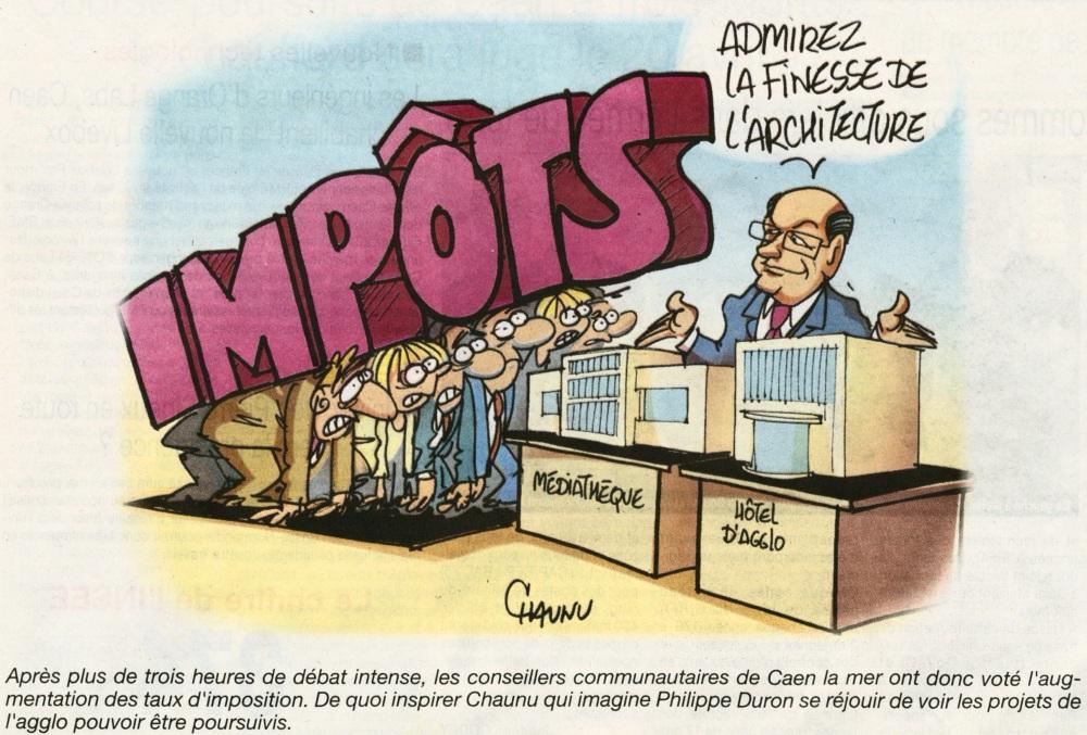 Impôts Caen la Mer Philippe Duron