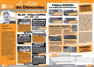 La lettre des démocrates Caen avec Philippe Lailler